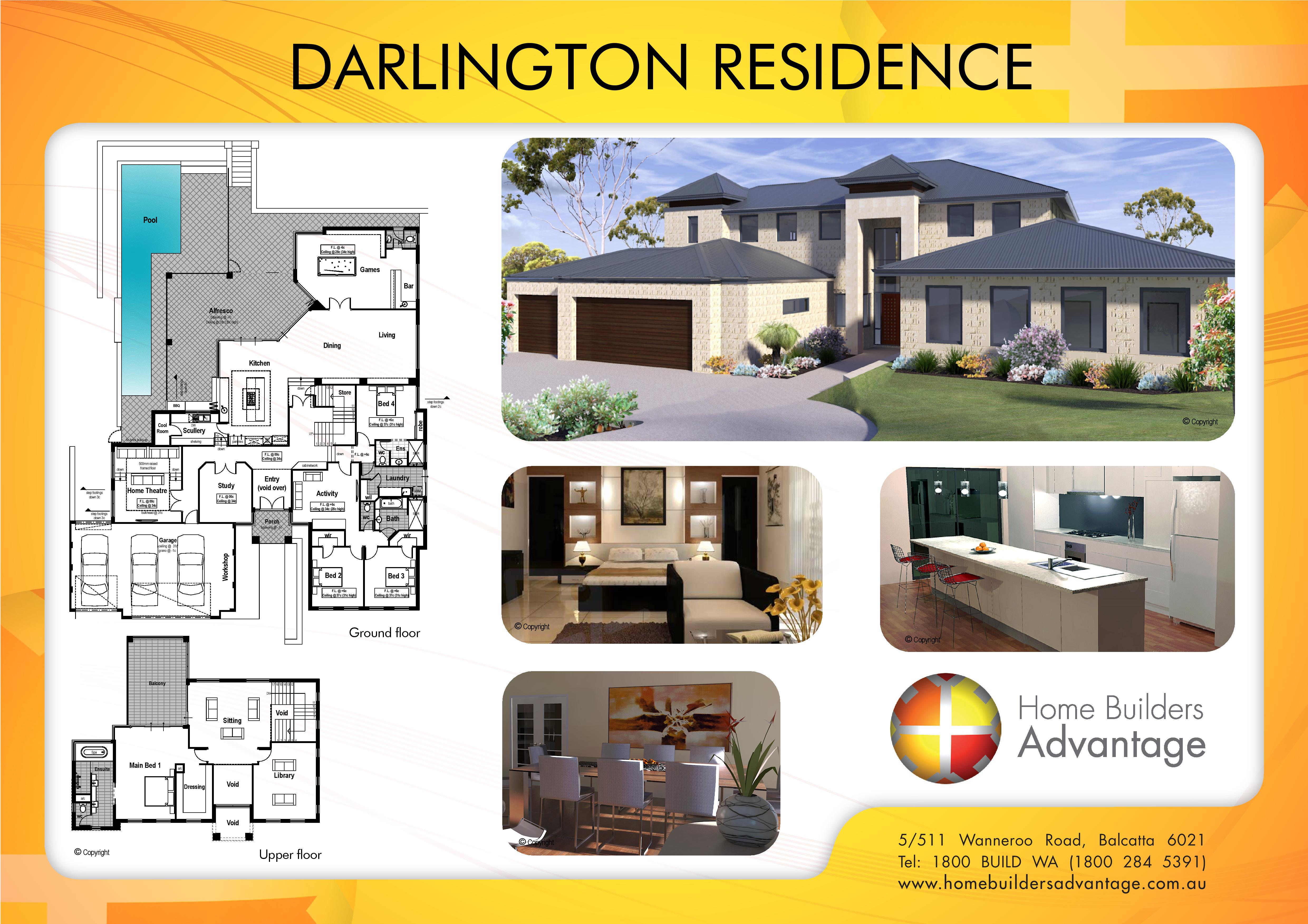 Double storey floor plans by the two storey experts for Custom built home floor plans