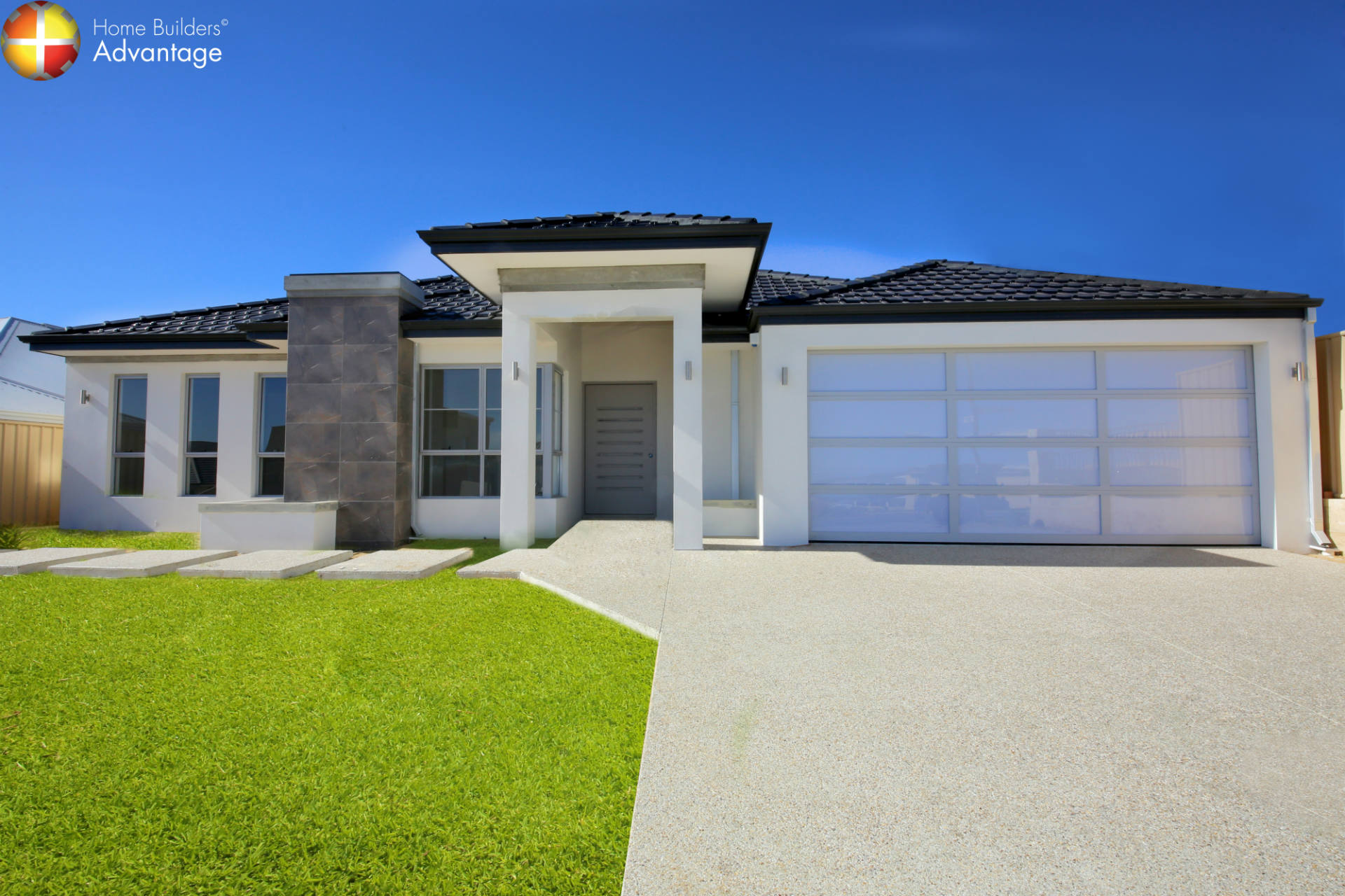 Front Elevation Australia : Front elevation single storey custom home design