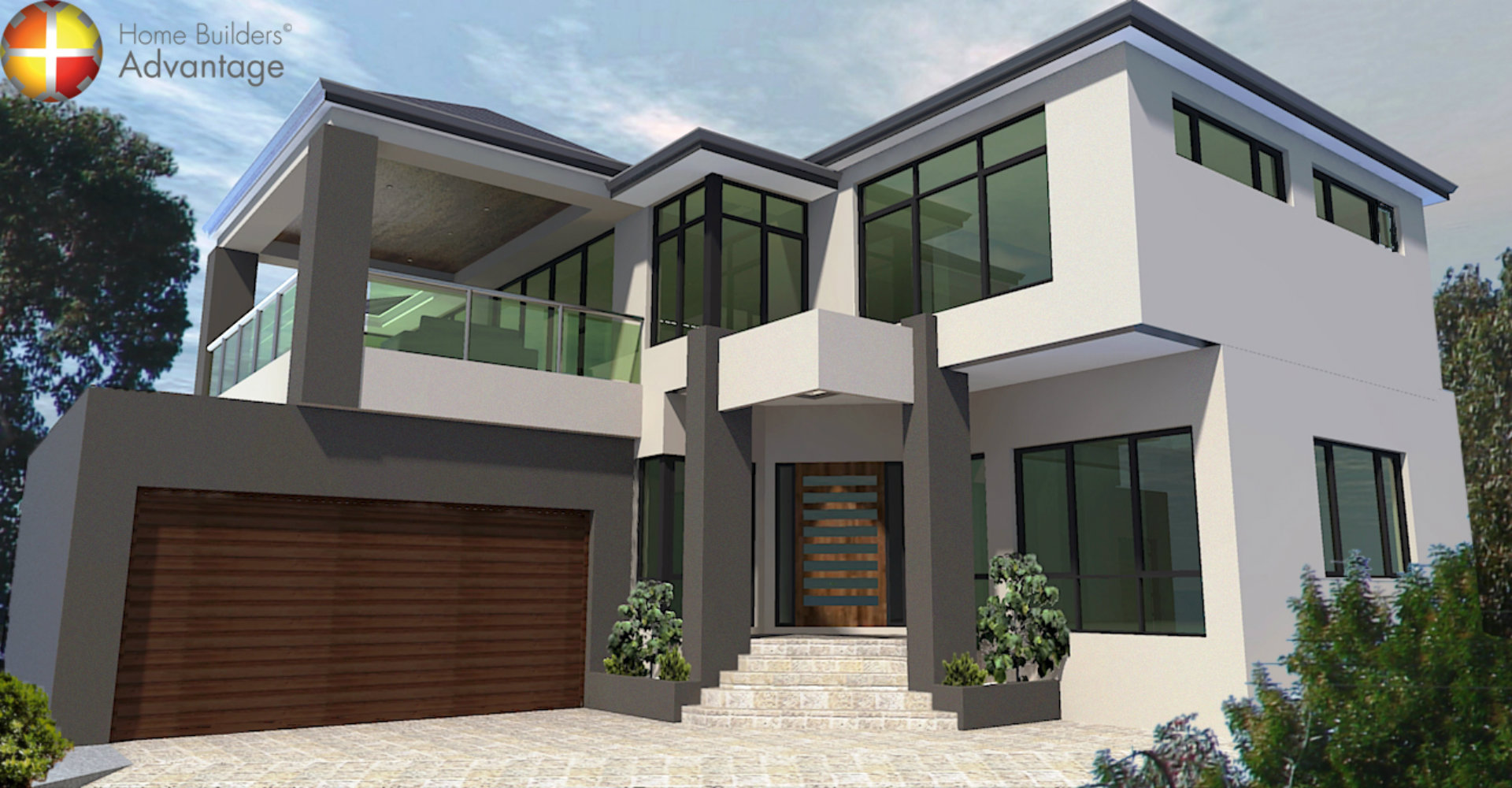 Front Elevation Two Storey Building : House behind design front elevation