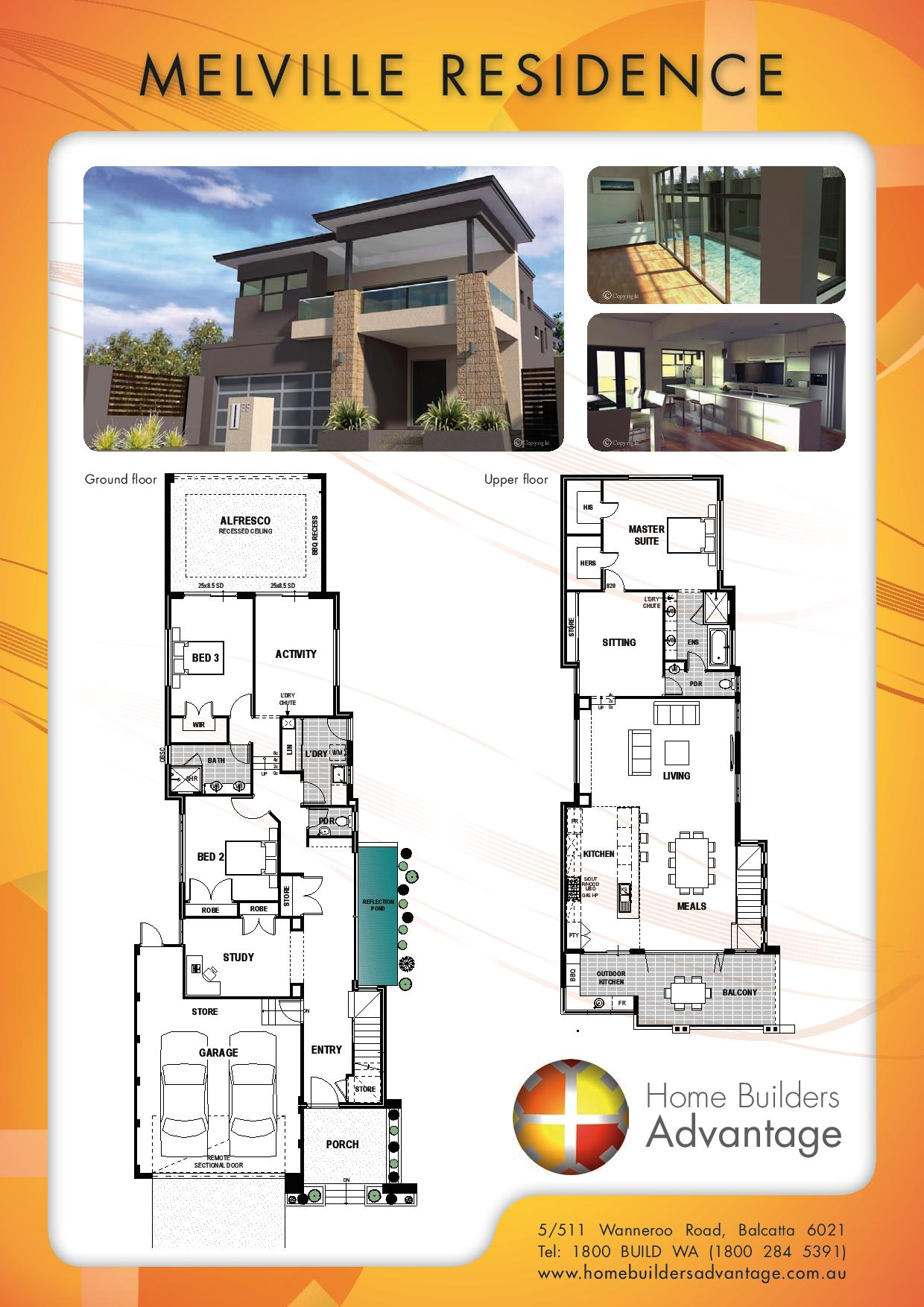 Double storey floor plans by the two storey experts for Free double storey house plans