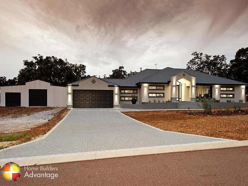 Front Elevation of Modern Style Farm House