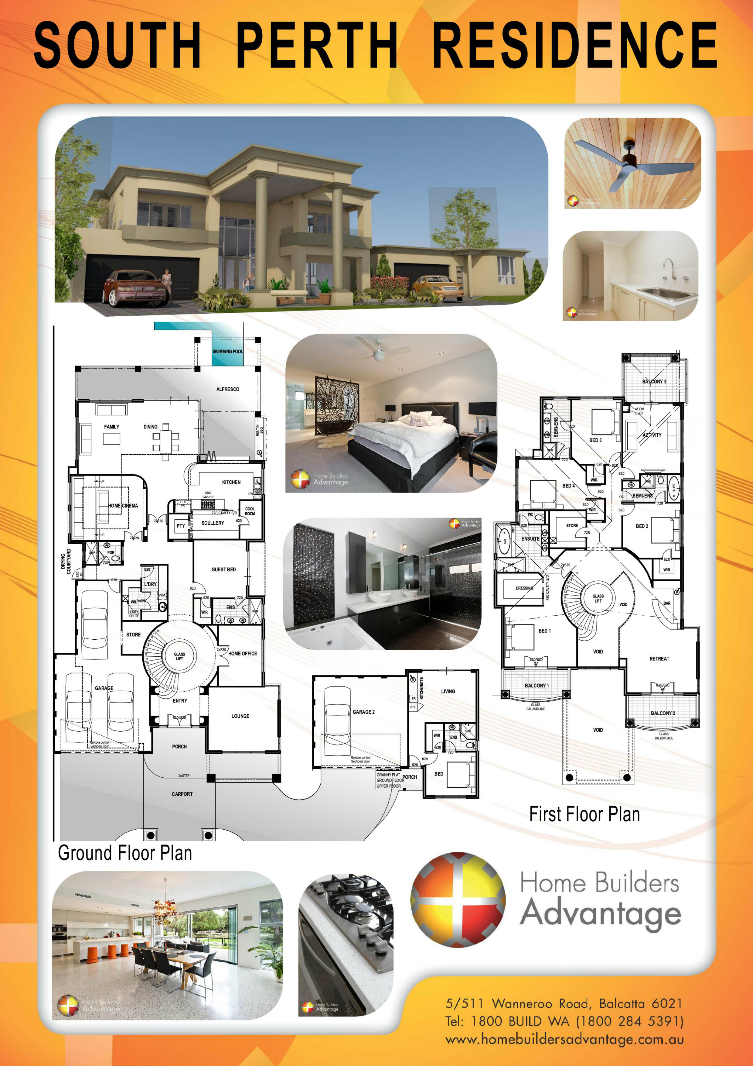 Home builders advantage deluxe two storey home with glass for Builders advantage