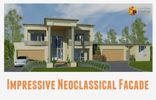 Image of Custom Luxury Home Neoclassical Exterior by HBA