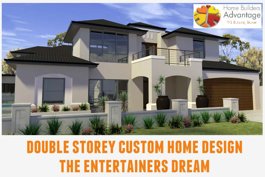 Custom Luxury Two Storey Design Exterior