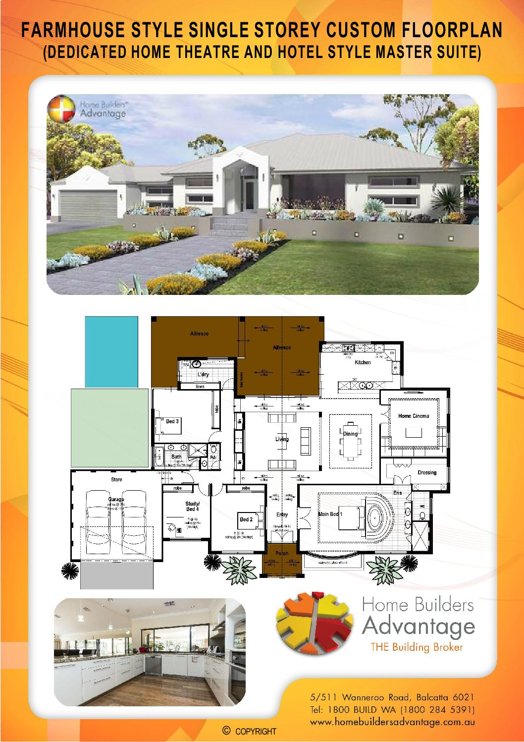 Farmhouse Style Floor Plan