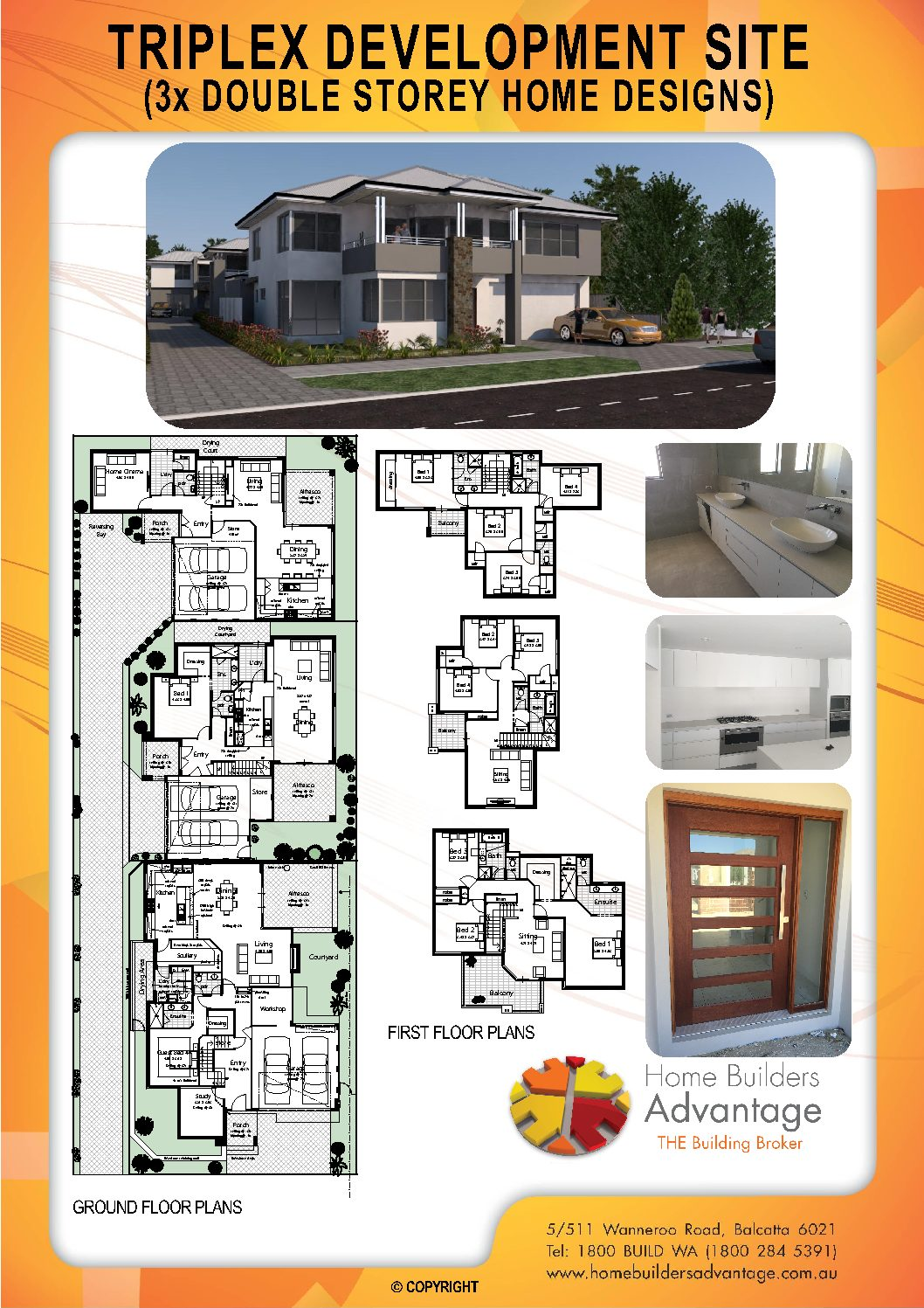 Triplex Design Floor Plans