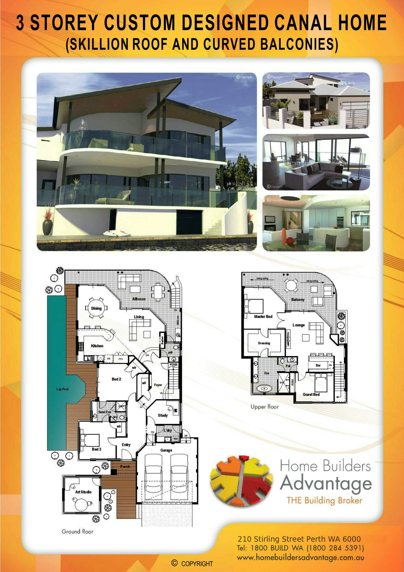 Picture of Three Storey Undercroft Design Home Builders Advantage Custom Design House Perth House Broker Two Storey House Plans Split Level Homes Floor Plans Custom Built