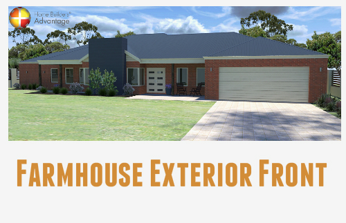 Farmhouse With Verandah Veranda Exterior Front Elevation Home Builders Advantage Perth The Building Broker