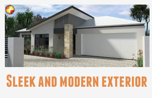 Rear Living Single Storey Front Elevation With Blog Quote Triple Garage Home Builders Advantage Perth The Building Broker