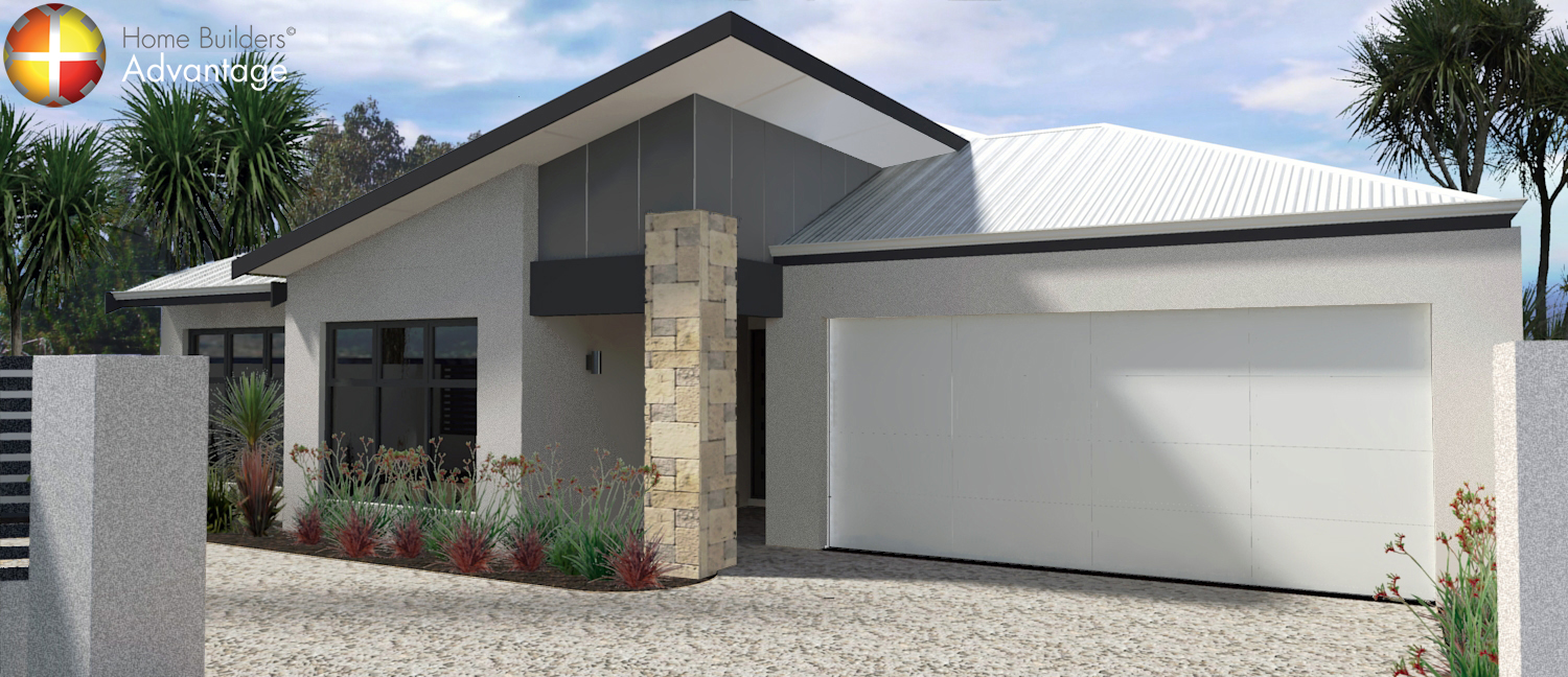 Single Storey Rear Living with Triple Garage Front Elevation Home Builders Advantage Perth The Building Broker