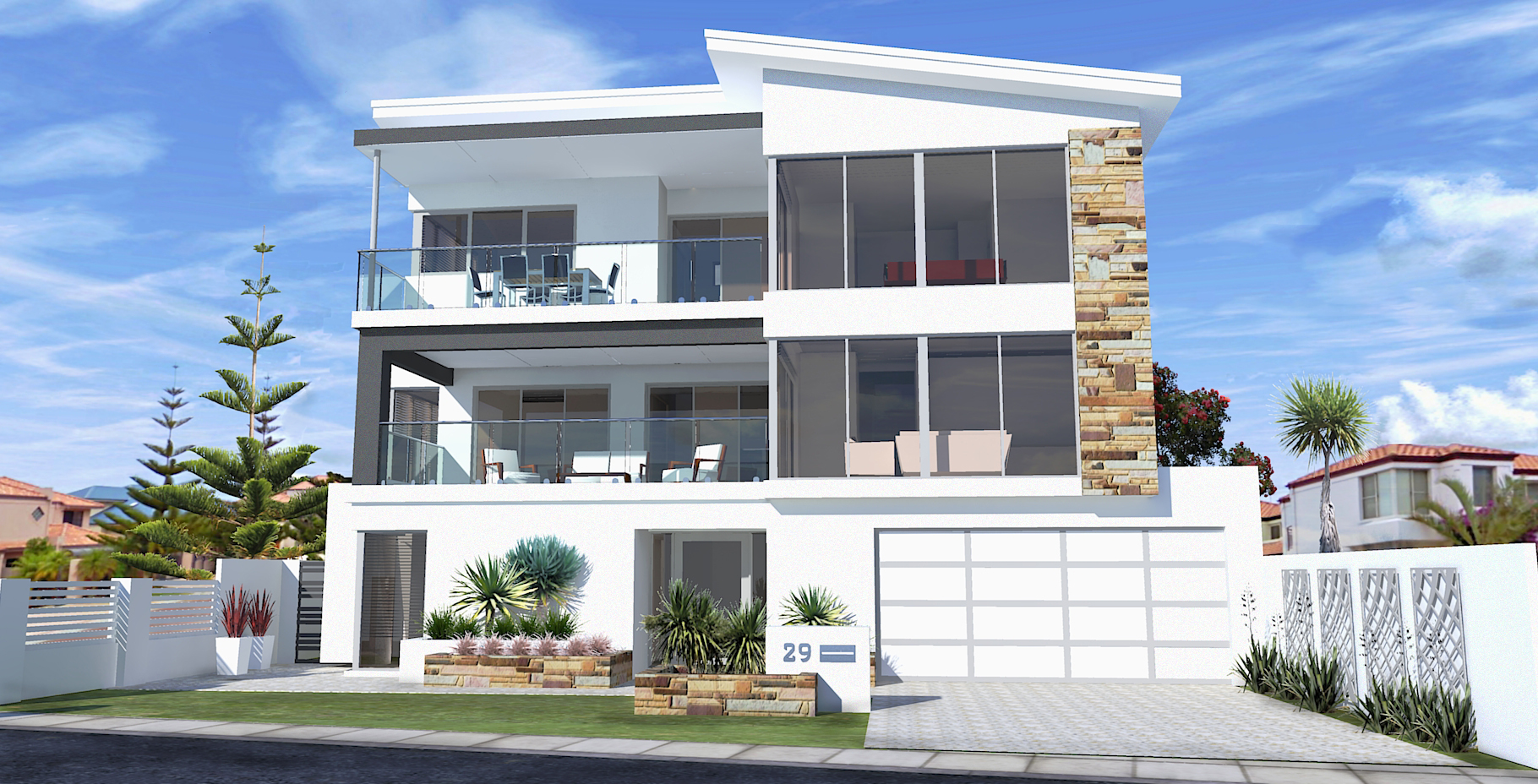 Three Storey Undercroft On Small Block Front Elevation Home Builders Advantage Perth The Building Broker