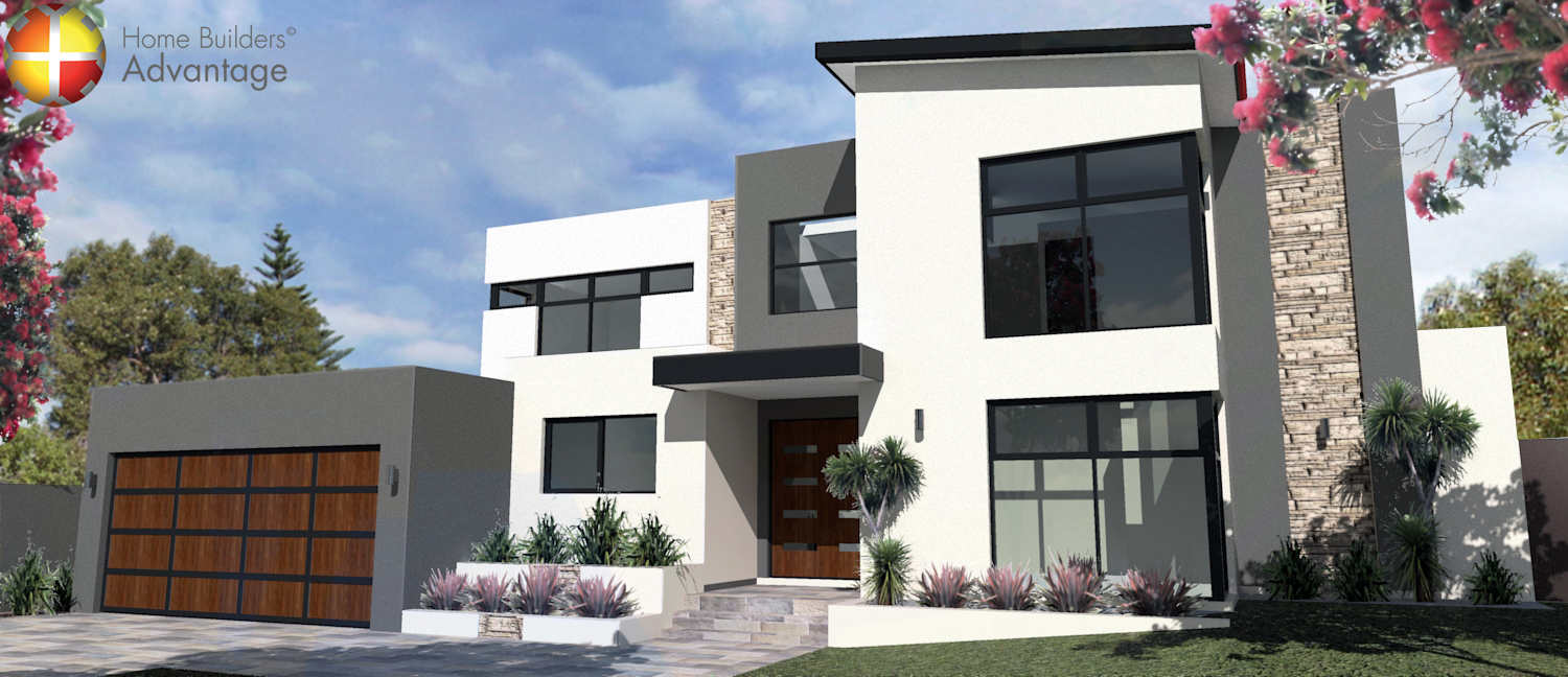 Rear Upper Views Double Storey With Two Master Suites and Gourmet Kitchen Front Elevation Home Builders Advantage Perth The Building Broker