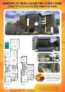 Double storey floor plans for Award winning narrow lot house plans