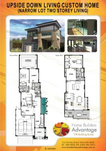Upside Down Living Custom Home (Narrow Lot Two Storey Living) Home Builders Advantage The Building Broker