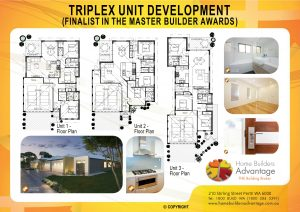 Triplex Unit Development (Finalist In The Master Builder Awards) Home Builders Advantage