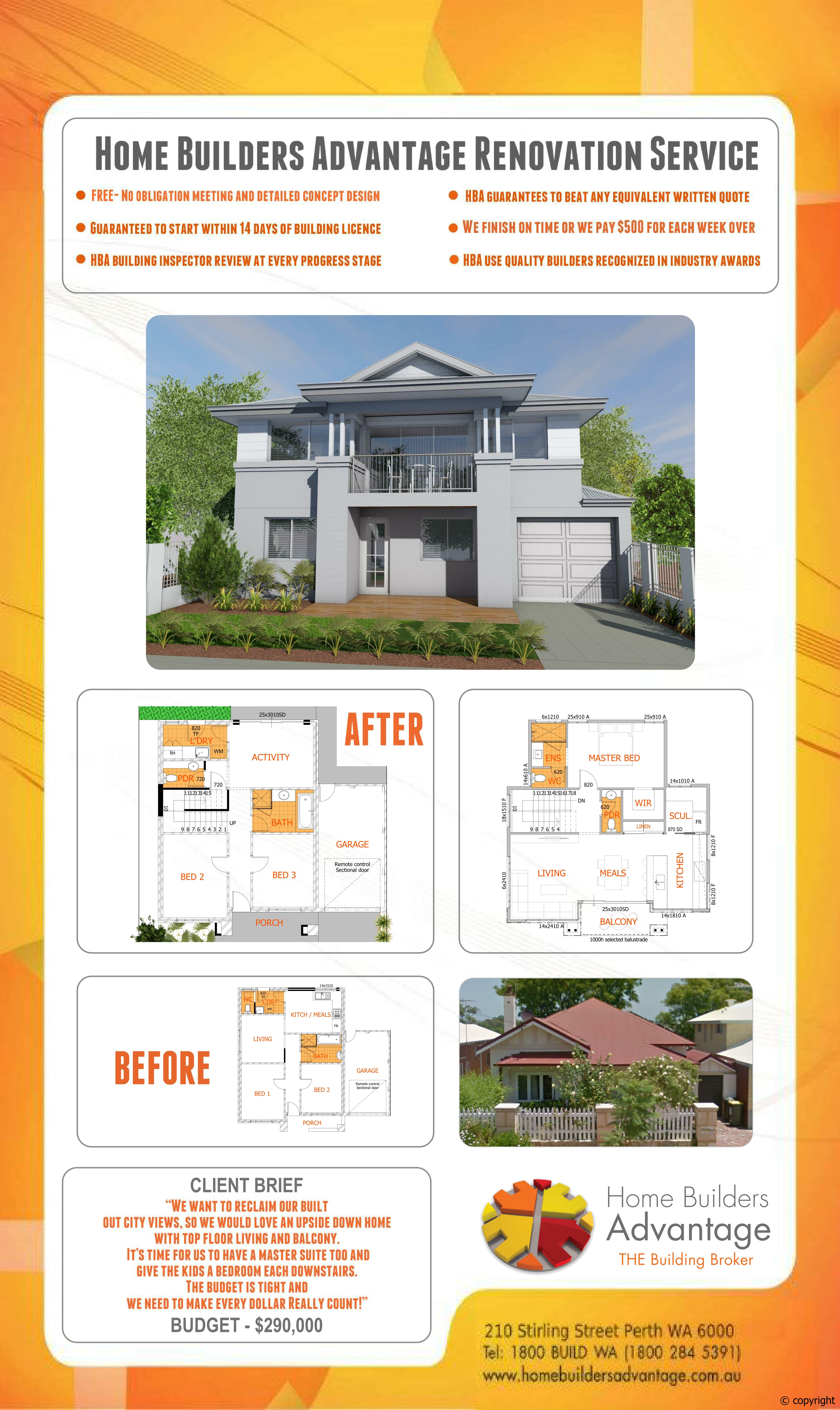Renovation Home Builders Advantage Custom Design House Perth House Broker Two Storey House Plans Split Level Homes Floor Plans Custom Built